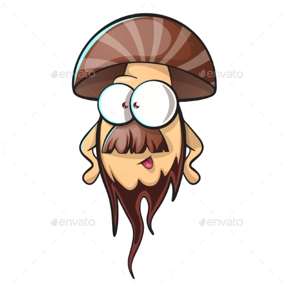 GraphicRiver Cartoon Mushroom with Beard 20410108