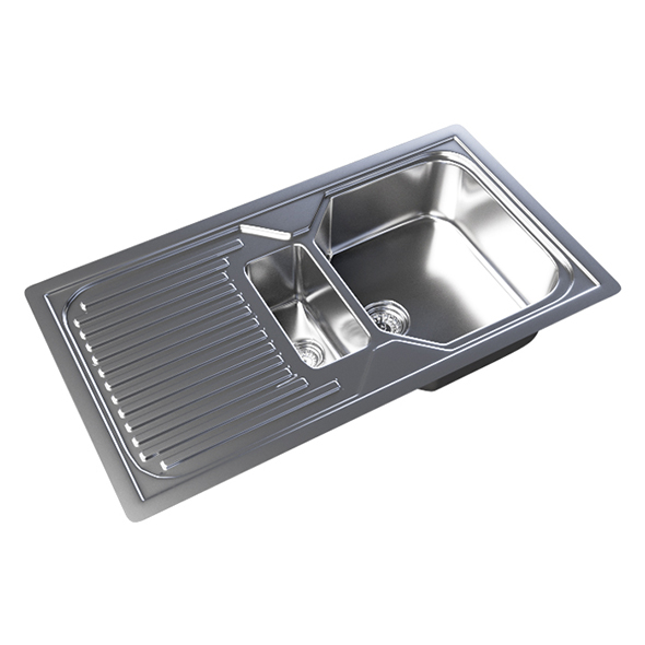 Vray Ready Metallic Kitchen Sink - 3DOcean Item for Sale