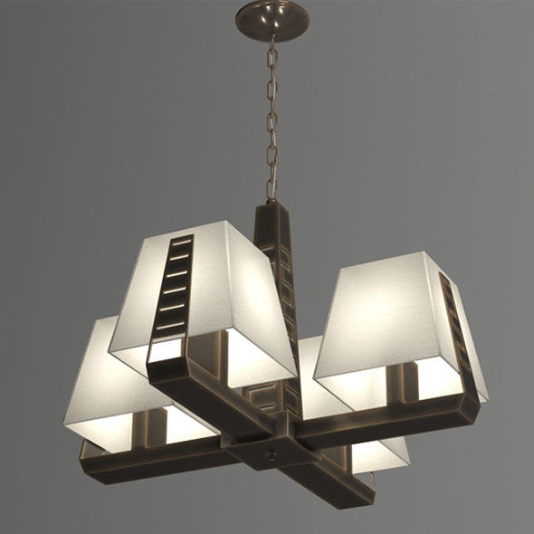 3DOcean Vray Ready Modern Chandelier Light 20410243