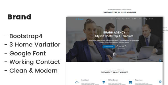 Brand-Bootstrap4 agency template