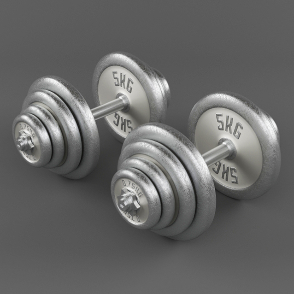 3DOcean Vray Ready Dumbbells 20410258