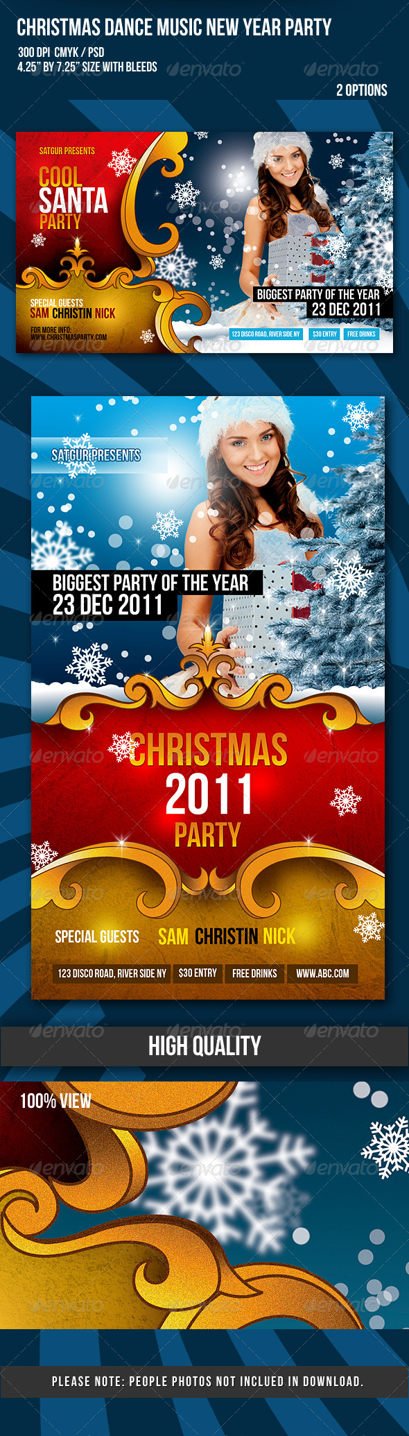 Christmas / New Year Dance Party Night Flyer - Clubs & Parties Events