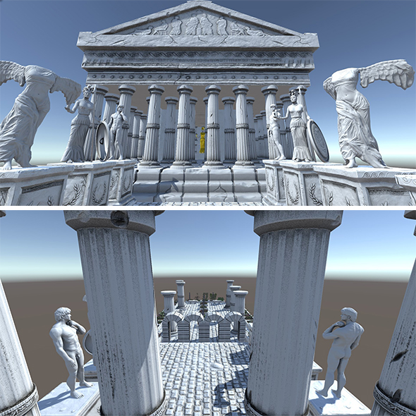 3DOcean Ancient Greek City Pack I 33 GameReady Assets 20410342