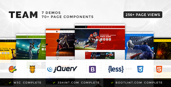 Team - Soccer, Football, Hockey, Basketball | eSport & Gaming | Sport Club HTML Template