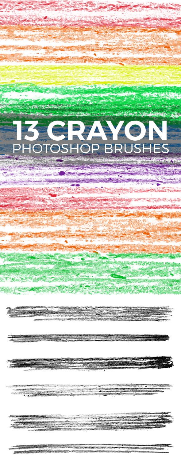 GraphicRiver 13 Wax Crayon Photoshop Brushes 20410402