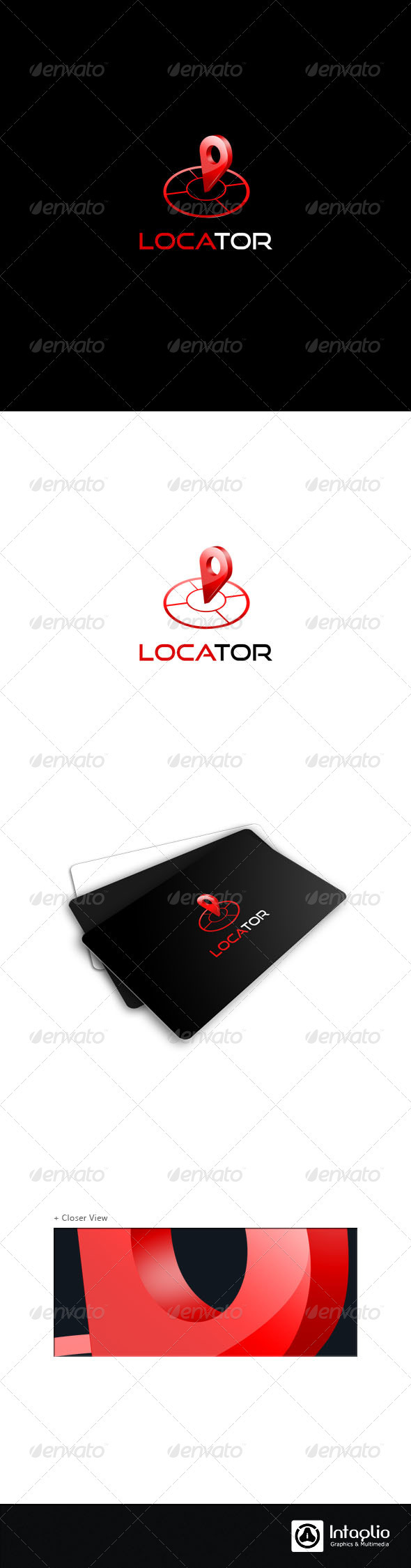 3D Navigation Logo Template - Locator - 3d Abstract