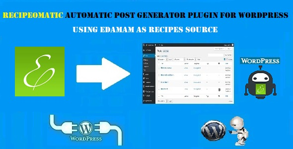 Recipeomatic Automatic Recipe Post Generator Plugin for WordPress - CodeCanyon Item for Sale