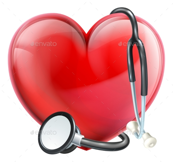 GraphicRiver Stethoscope and Heart Concept 20410743