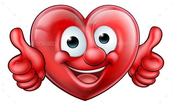 Heart Cartoon Mascot - Health/Medicine Conceptual