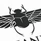 Egyptian Beetle Logo Template
