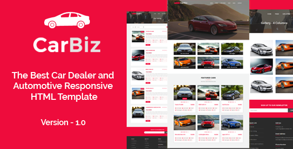 CarBiz - The Best Car Dealer and Automotive Responsive HTML Template