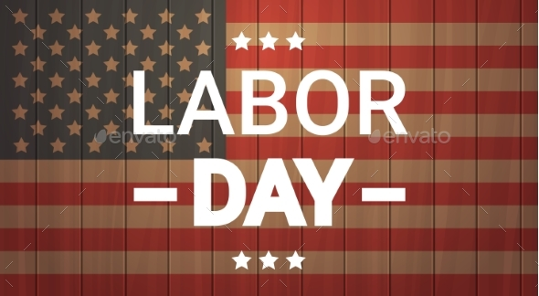 Labor Day National American Holiday Greeting - Miscellaneous Seasons/Holidays
