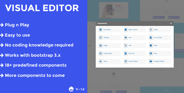 Visual editor - A drupal 8.x page builder - CodeCanyon Item for Sale