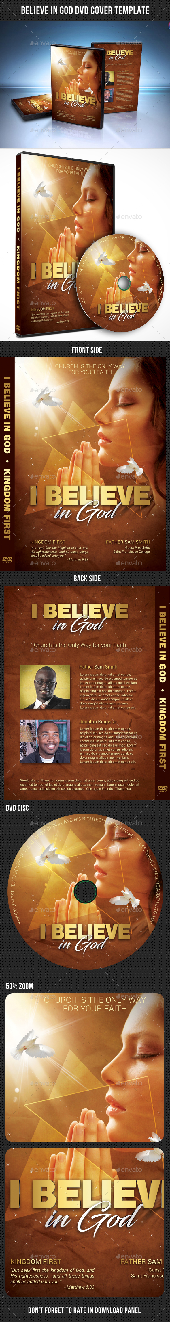 Believe In God DVD Cover Template - CD & DVD Artwork Print Templates