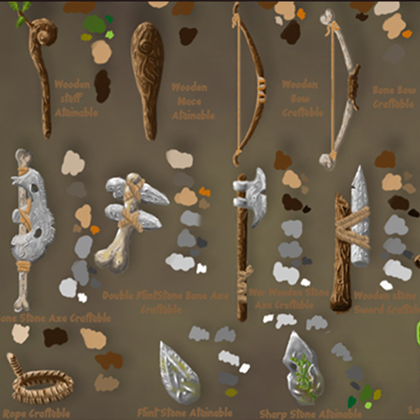 Craftable Tools Pack I Primitive - 3DOcean Item for Sale