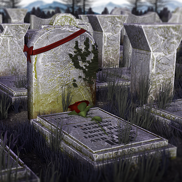 3DOcean Graveyard Props Package I VR ready I Optimized I 20411328