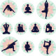 Yoga Icons - Vector Illustration Set - GraphicRiver Item for Sale