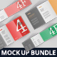 4-Fold Brochure Mockup Bundle