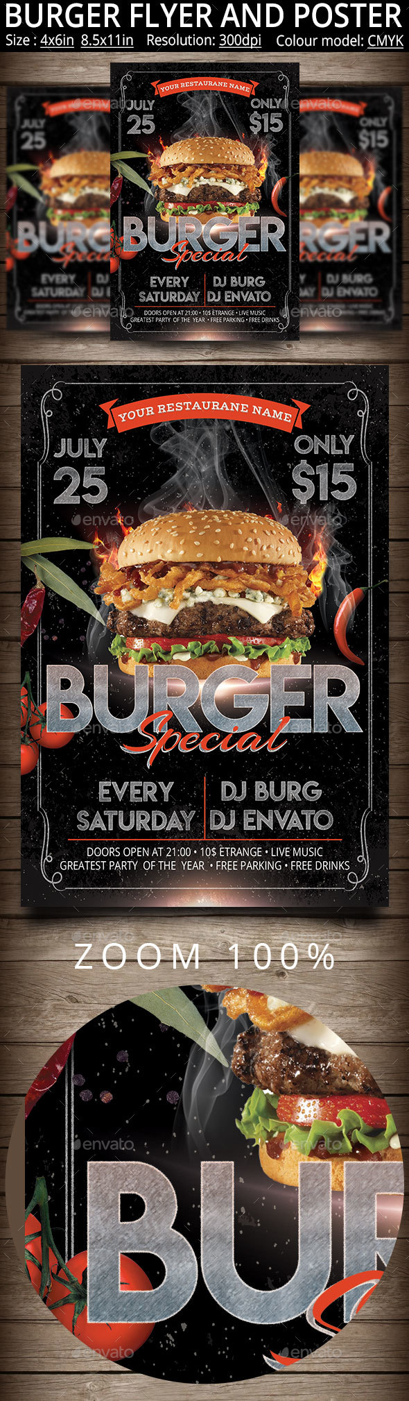 Burger Flyer And Poster