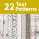 22 Seamless Text Patterns