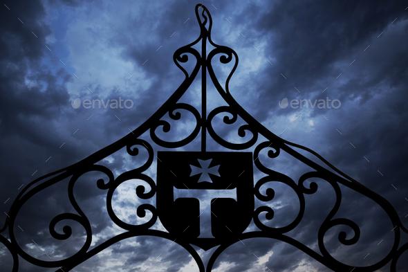 Templars iron gate - Stock Photo - Images