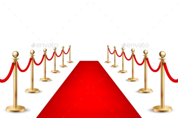 Realistic Vector Red Event Carpet - Miscellaneous Seasons/Holidays