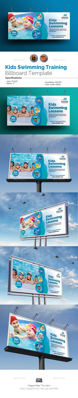GraphicRiver Kids Swimming Training Billboard 20411865