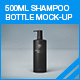 500ml Shampoo Bottle Mock-up