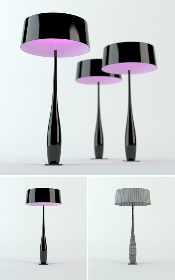 MMe Butterfly lamp - 3DOcean Item for Sale
