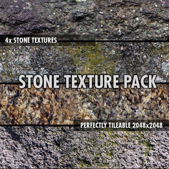 Stone Textures Pack (x4) - 3DOcean Item for Sale