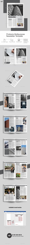 Probisnis Multipurpose Newsletter - Newsletters Print Templates