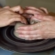 Hands of Two People Create Pot, Potter's Wheel. Teaching Pottery - VideoHive Item for Sale