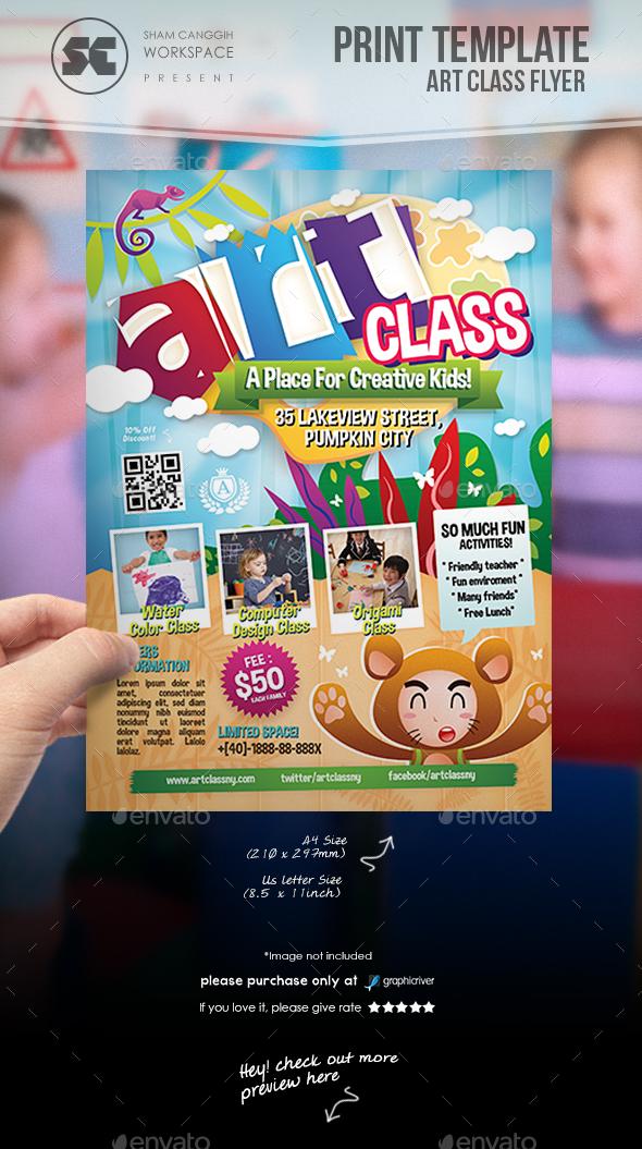 Art Class Flyer - Miscellaneous Events