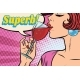 Super Reaction Woman Drinking Red Wine