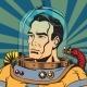 Avatar Portrait of a Retro Astronaut Man