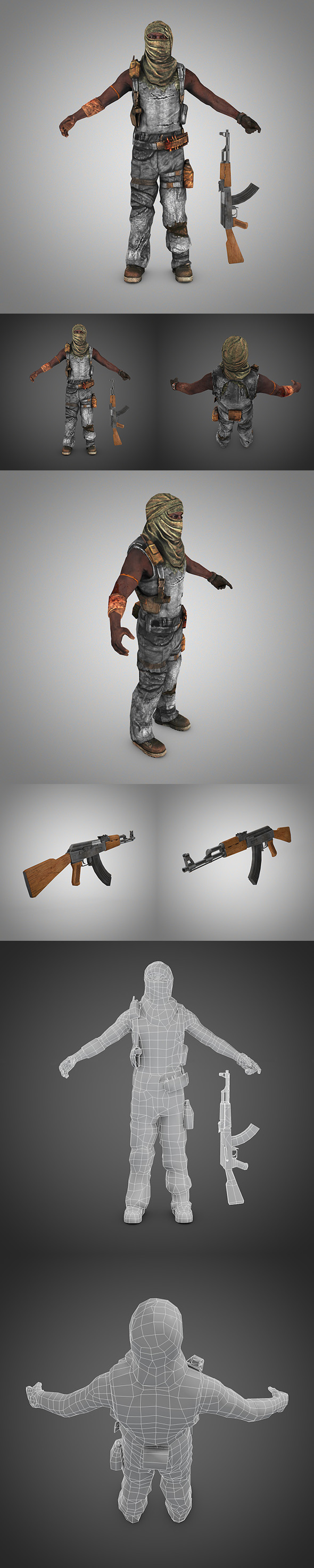 Terrorist (Somali Pirate) - 3DOcean Item for Sale
