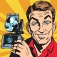 Avatar Portrait of Man with Retro Camera