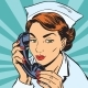 Avatar Portrait of a Nurse with the Phone - GraphicRiver Item for Sale