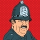 Avatar Portrait of a British Police Officer - GraphicRiver Item for Sale