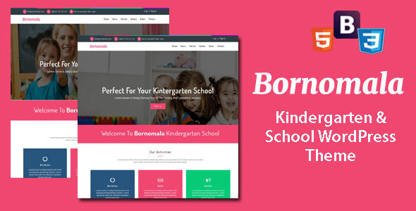 ThemeForest Bornomala Kindergarten & School WordPress Theme 20262569