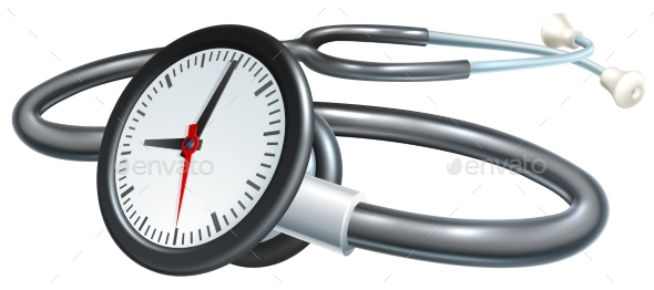 GraphicRiver Stethoscope Clock Concept 20412780