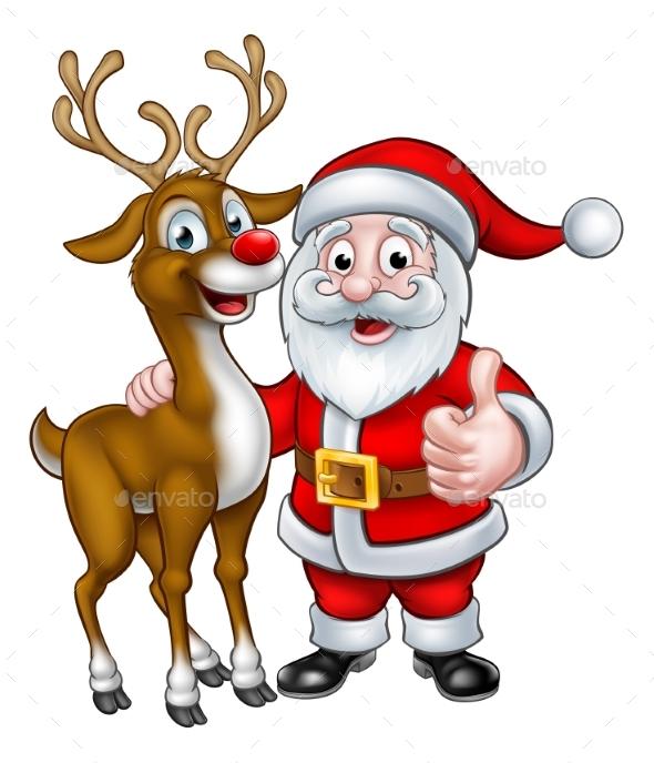 GraphicRiver Santa and Christmas Reindeer 20412797