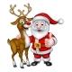 Santa and Christmas Reindeer
