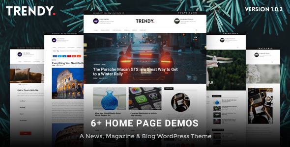 Trendy Pro - Responsive News Magazine Blog WordPress Theme