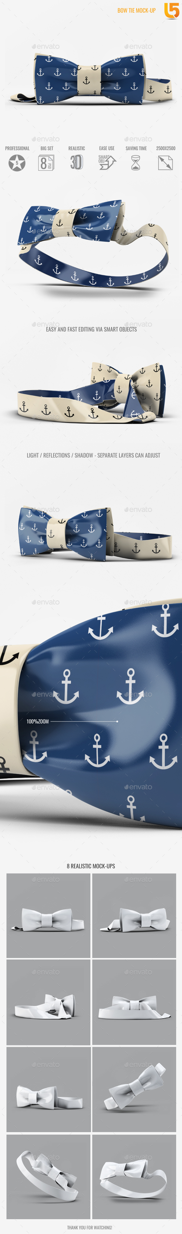 GraphicRiver Bow Tie Mock-Up 20412952