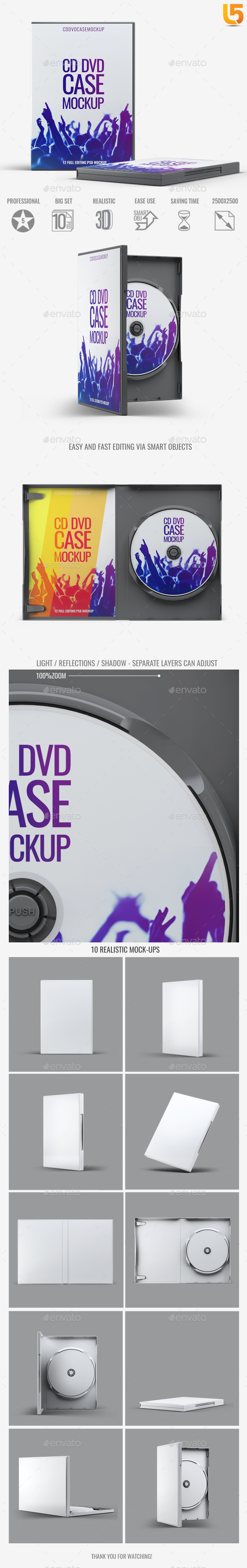 DVD CD Case Mock-Up - Discs Packaging