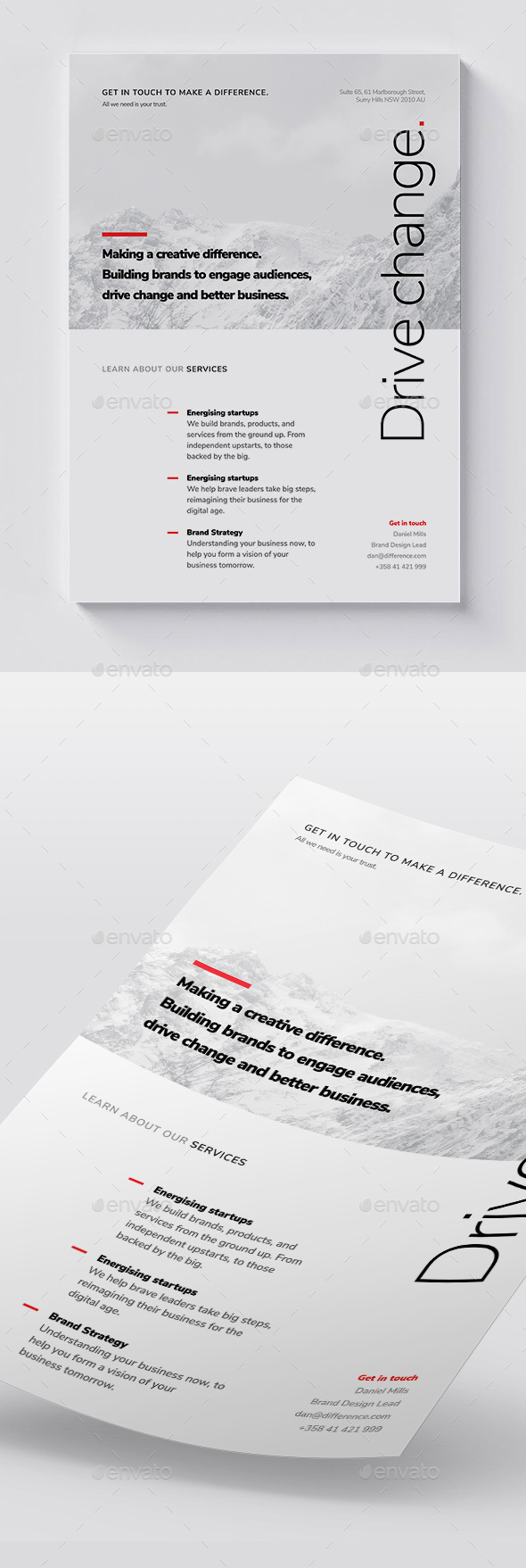 Corporate Flyer A4 / Brochure / Minimal & Clean - Corporate Flyers