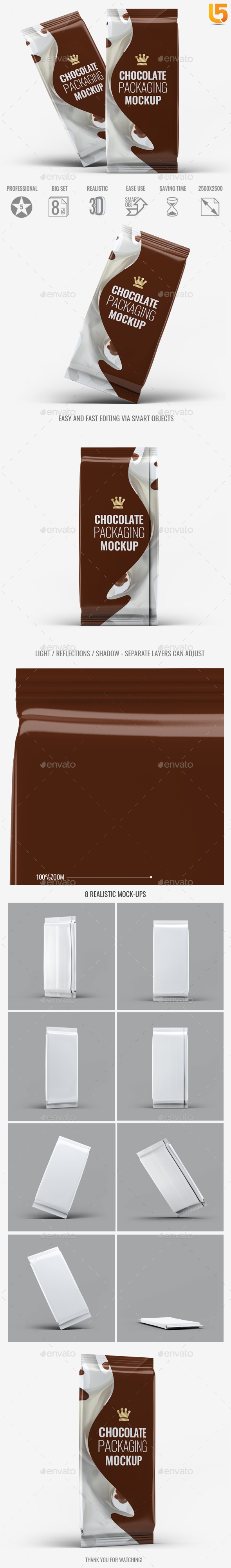 Chocolate Packaging Mock-Up - Food and Drink Packaging