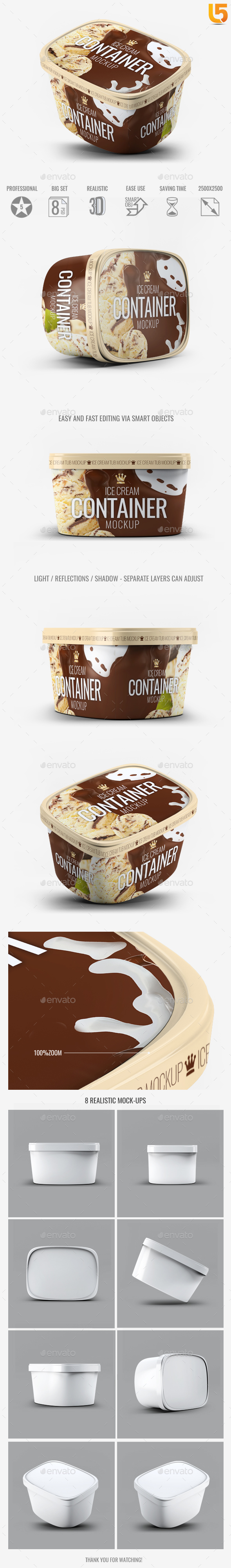 GraphicRiver Ice Cream Container Mock-Up 20413057