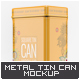 Metal Tin Can Mock-Up - GraphicRiver Item for Sale